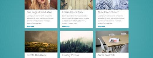 Show post as row or grid in WordPress front page.