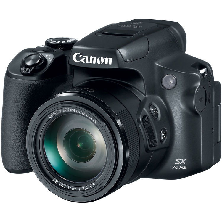 Canon PowerShot SX70 HS Superzoom camera bitrate and 4K video file size info