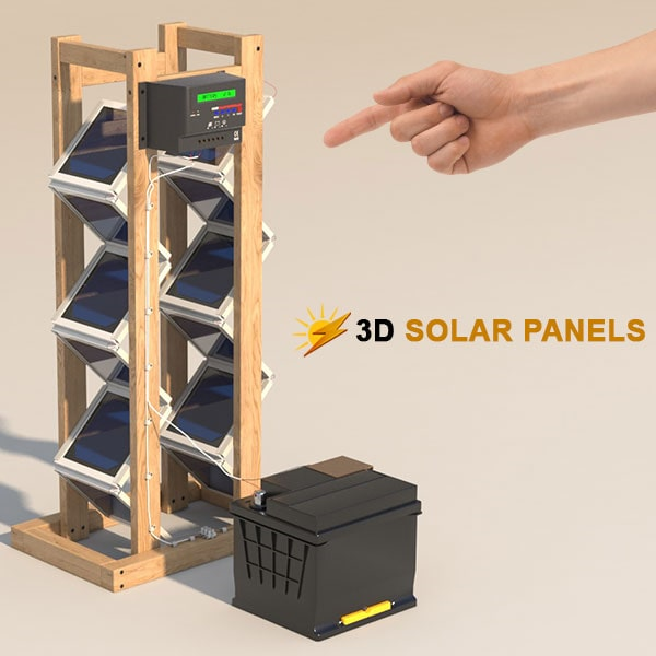 How to 3D Solar panels MIT discovery (Backyard Revolution)