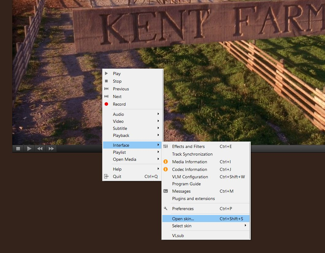 How to install add skin to VLC media player