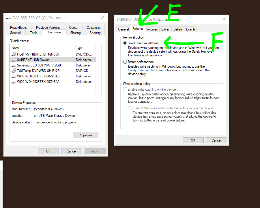 How to fix Can't Eject External Hard Drive, SSD or USB drive on Windows 10.  How to force eject HDD USB.